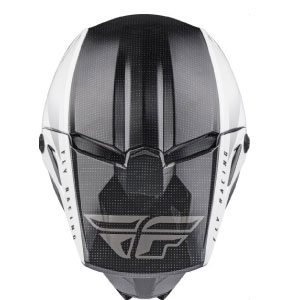 FLY RACING KINETIC STRAIGHT EDGE ECE RIST / ENDURO kiiver, valge/must, suurus S
